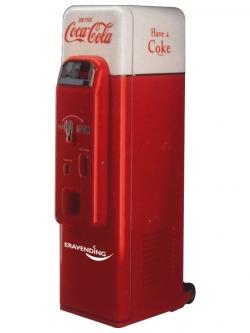 Maquina expendedora de latas de Coca Cola Nostalgica