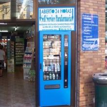 Expendedora de Parafarmacia colocada en la Parafarmacia Farmarosa en Oviedo