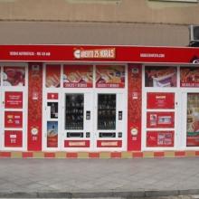 Expendedora de recargas telefónicas modelo Eravending Maxi Online en Tienda Abierto 25 Horas en Sevilla