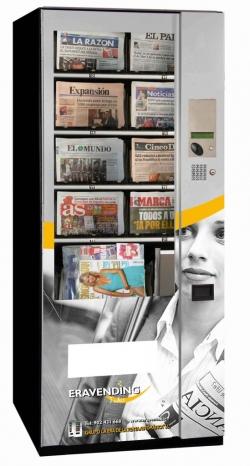 Maquina expendedora de Periodicos y Revistas