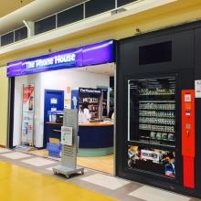 Expendedora de supermercado con cartuchos informáticos en Gijon