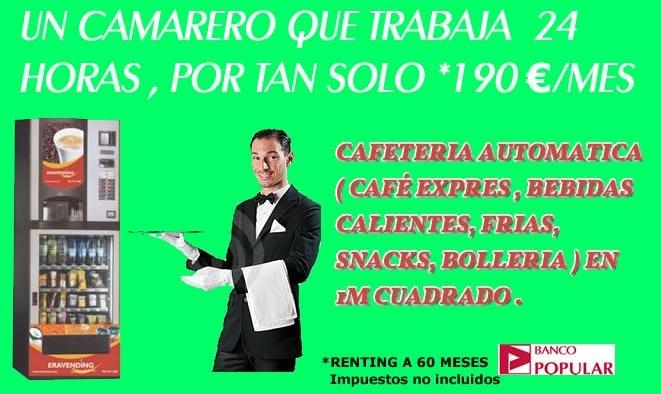 IDÓNEO PARA DAR SERVICIO DE CAFETERÍA 24 HORAS EN: