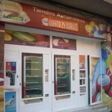 Expendedora de recargas telefónicas modelo Eravending Mini Online en una Tienda Abierto 25 Horas en León