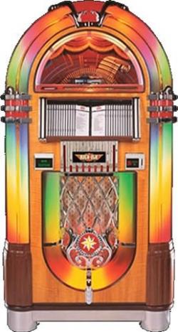 maquina reproductora de musica estilo años 50 y  60
