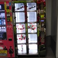 Máquina instalada en el metro de plaza Castilla de Madrid , vendida a una floristería local .