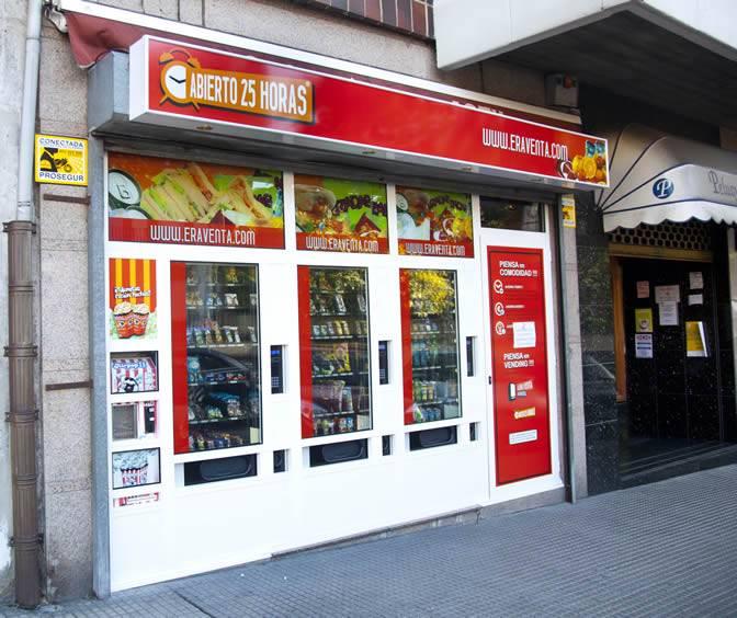 Imagenes de la fachada de la Tienda Abierto 25 Horas Villalegre - Aviles - Asturias